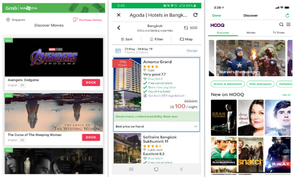 Grab to add HOOQ, Agoda and Booking com to its super app