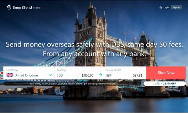 Dbs Launches Online Remittance Service For Non Customers Users Can Send Money