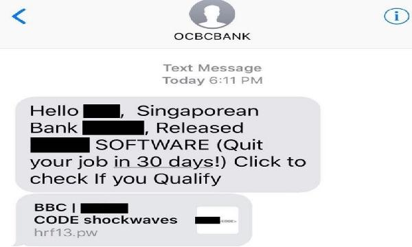 Singapore police warns about bank scams from phishing